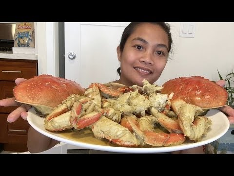 Unbelievably tasty Crab mukbang (dungeness crab in coconut milk)