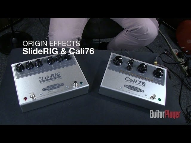 Barry Cleveland on the Origin Effects Cali76 and SlideRig Compressor Pedals