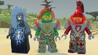 LEGO Worlds - All NEXO KNIGHTS Characters Unlocked - Special Weapons + Vehicles