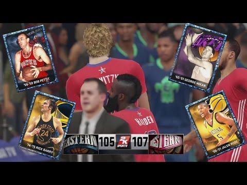 NBA 2K15 MyTeam XB1 - Sapphire Bob Petit, Rick Barry, George Mikan  l Another Dirk Game Winner?!