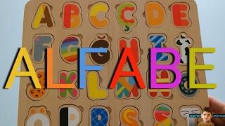 Ahşap Oyuncak Harflerle, Hayvan, Meyveler ve Araba İsimleri - Türkçe Alfabe