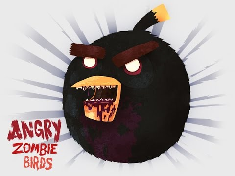 Angry Birds Zombies Fun Zombie Animation With Angry Birds Youtube