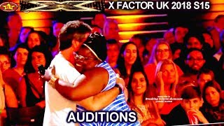 Panda Ross Former X Factor US Contestant GETS HUG & YES FROM SIMON AUDITIONS 4 X Factor UK 2018