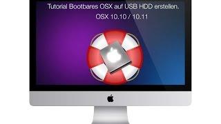 Tutorial OSX  auf einer externen Festplatte installieren