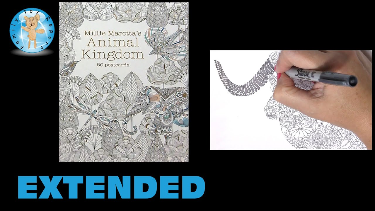 Millie Marottas Animal Kingdom 50 Postcards Adult Coloring Book Ram Extended