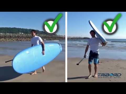 b59239c80 Como carregar a prancha de Stand Up Paddle - Exclusividade Decathlon