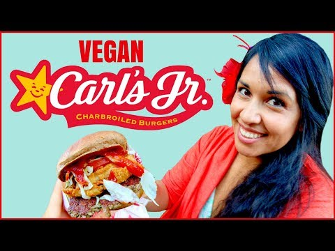 The Vegan Carl's Jr Western Bacon Cheeseburger w/ the Impossible Burger