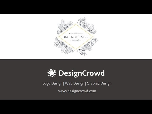 Creating a sophisticated logo for Kat Rollings Photography with DesignCrowd
