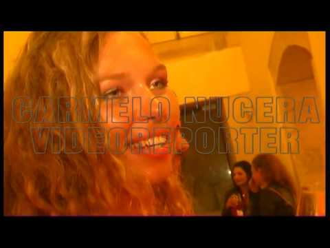 RUSSIAN GIRL EATING AND DRINKING ITALIAN FOODS IN RAGUSA SICILY