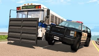 Crazy Police Chases #78 - BeamNG Drive Crashes