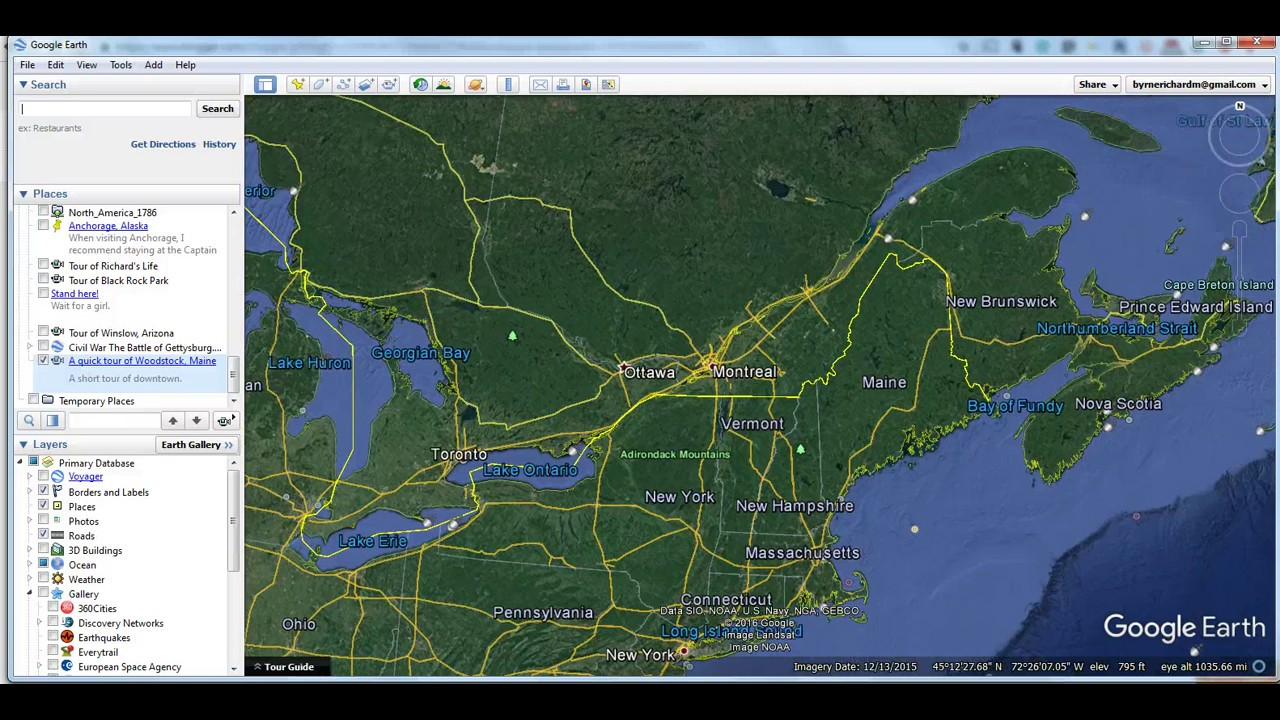 how to create route on google earth