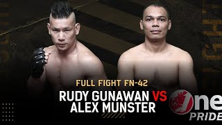 Main Event of The Night! Rudy Gunawan VS Alex Munster || Full Fight One Pride MMA FN 42