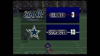 NFL QB Club 98 Gameplay Dallas Cowboys New York Giants