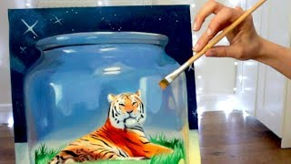 Painting - Tiger in a Jar