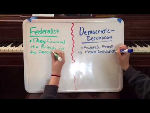 Federalists Vs Democratic Republicans
