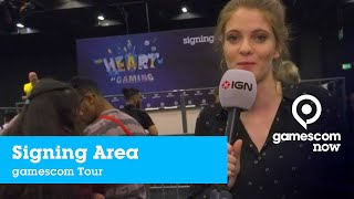 #gamescom2019 - Besuch bei der Signing Area  | IGN @ gamescom now