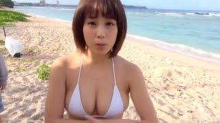 Korean sexy girl model romantic on the beach.top model cuty in japa...