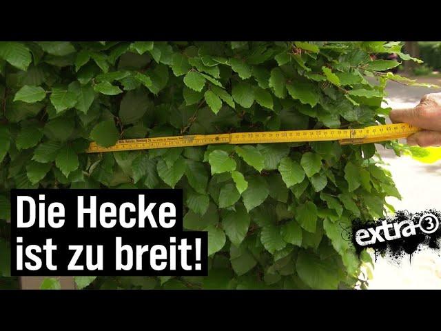 Realer Irrsinn: Zu breite Hecke in Ahrensburg | extra 3 | NDR