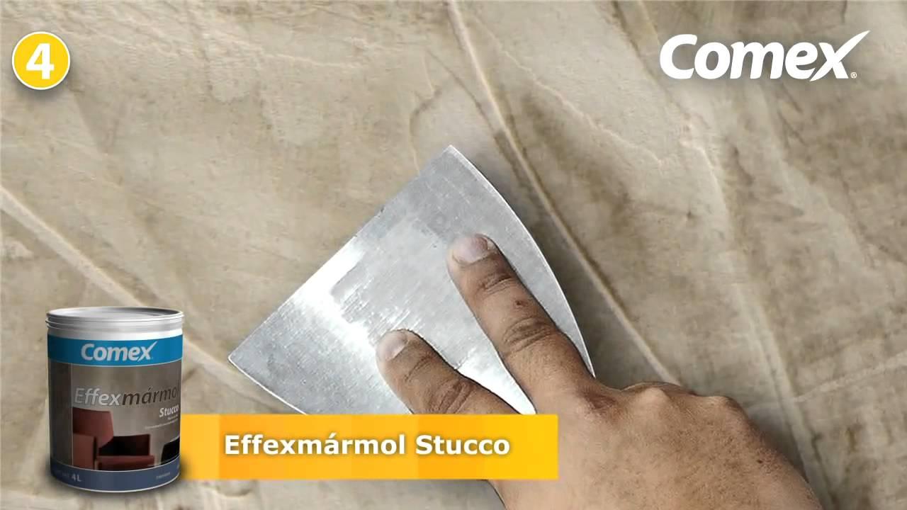 Comex Effexmármol Stucco - YouTube
