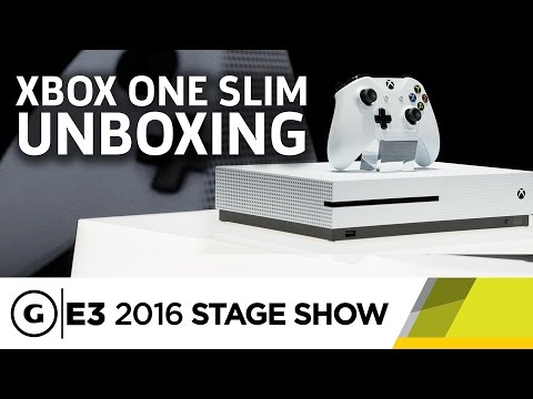 Xbox One Slim Unboxing And Briefing - E3 2016 Stage Show