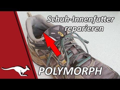 Schuh Innenfutter reparieren mit Polymorph YouTube