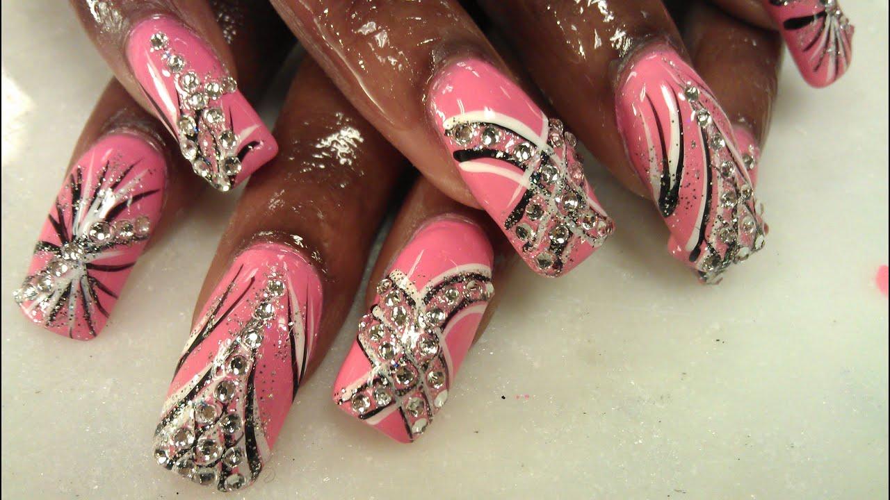 simple exotic diamond nails part