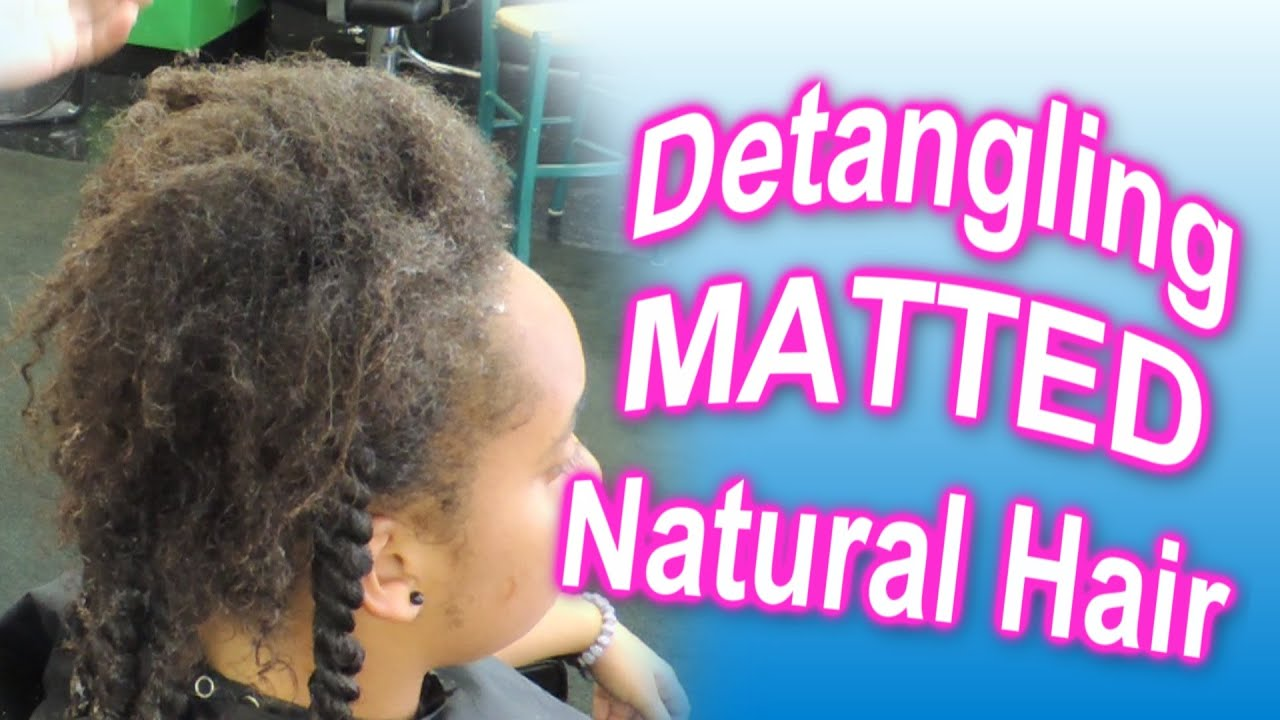 Natural Black Hair Matted Style