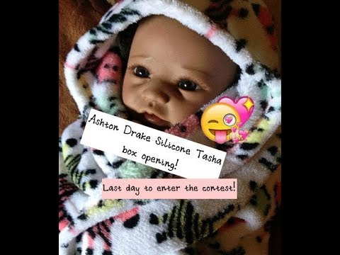 Ashton Drake silicone doll Tasha box opening! Last chance to enter the contest!