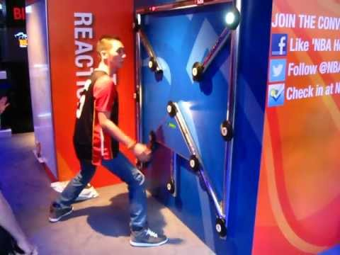Me doing a reaction time test at NBA House, London, UK. - YouTube
