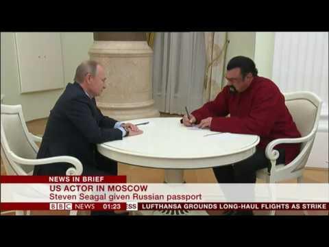 Steven Segal given a Russian Passport by Vladimir Putin