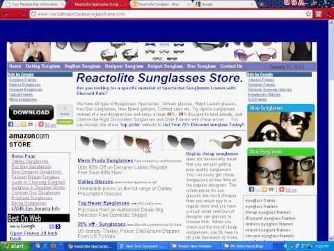 Reactolite Sunglasses - Discount Designer Eyeglass Frames