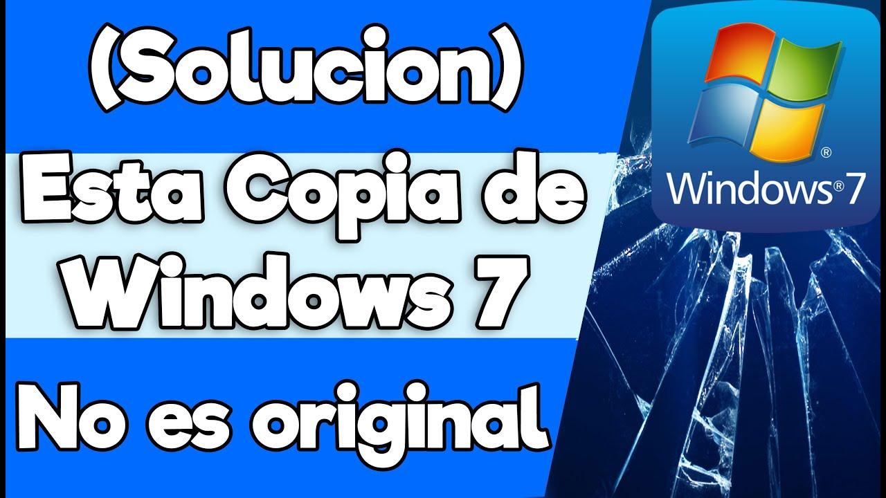 Solución Esta Copia De Windows 7 No Es Original Compilación 7600 Y O 7601 Hd 2016 Youtube