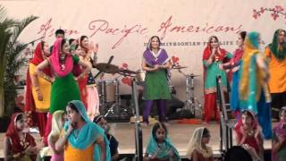 Smithsonian Folk Festival 2010 Sikh Dance Bhangra Giddha Video