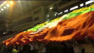 MFFC Singing Myanmar National Athem With Big Flag