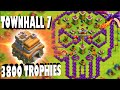 """Clash of Clans - THIS IS CRAZY! """"TOWN HALL 7 AT 3,800+ TROPHIES!"""" How did he do it?"""