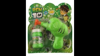 UnBox - Ben10 Green Elephant Manual Bubble gun Toy - Best Seller in Toys Bubble in Amazon
