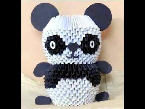 Модульное оригами схема панда сборки