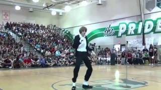 flawless moonwalk high school mj impersonator dances to billie jean 2014
