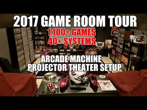 2017 Game Room Tour - Theater Room, Arcade Machine, 1100+ Games, 40+ Systems