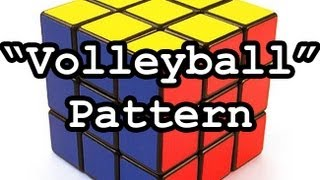 rubik s cube volleyball pattern tutorial 3x3 and even cubes