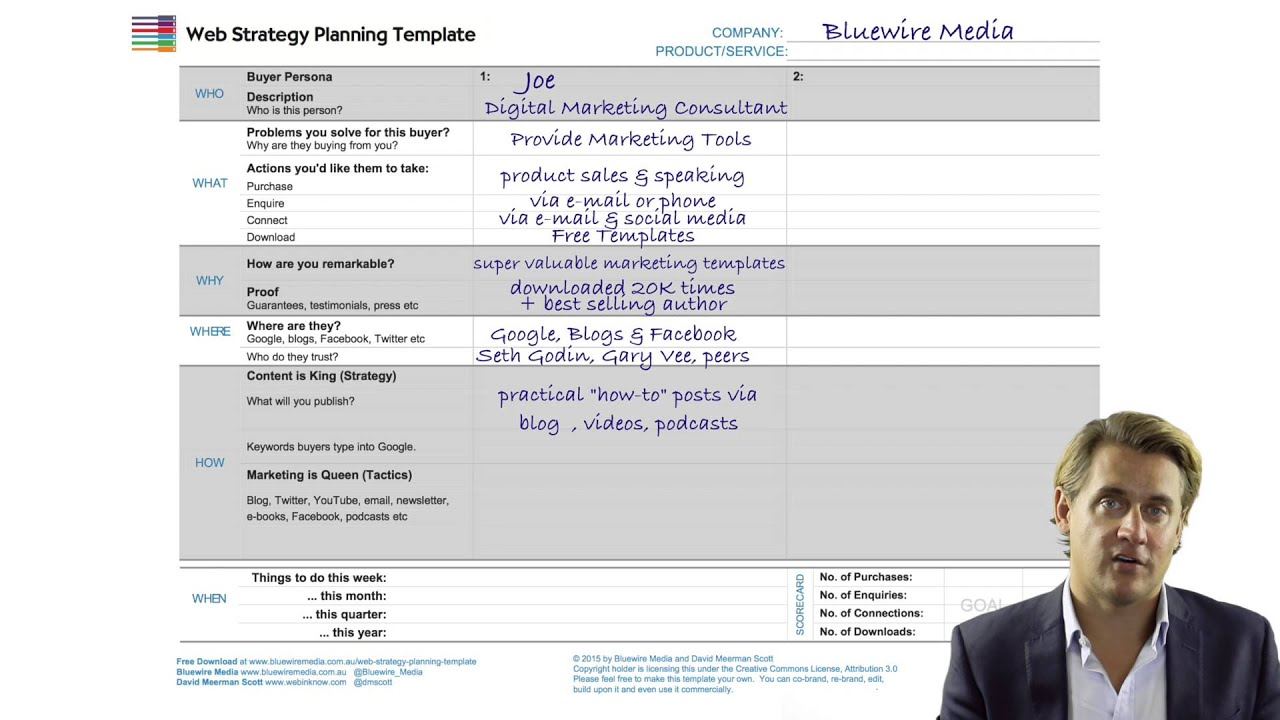 how to use the web strategy planning template pt 2 digital marketing template youtube. Black Bedroom Furniture Sets. Home Design Ideas