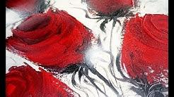 How to Paint Abstract Roses-Wie malt man abstrakte Rosen / V154