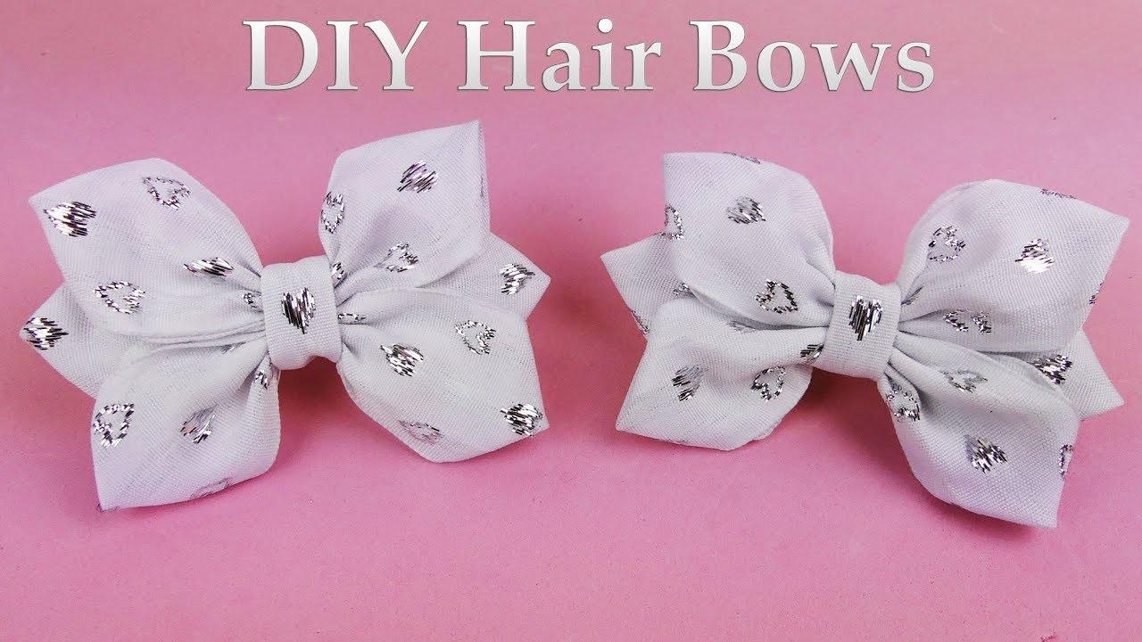 Diy Hair Bow I How To Make Ribbon Bow I Kanzashi Tutorial