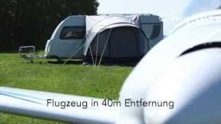 Camping Trend: Wohnwagen Luft Vorzelt im Windtest (Fritz Berger Garda-L Deluxe)