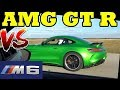 700 HP AMG GT-R VS 725 HP BMW M6 - 1/2 Mile Race - RoadTestTV