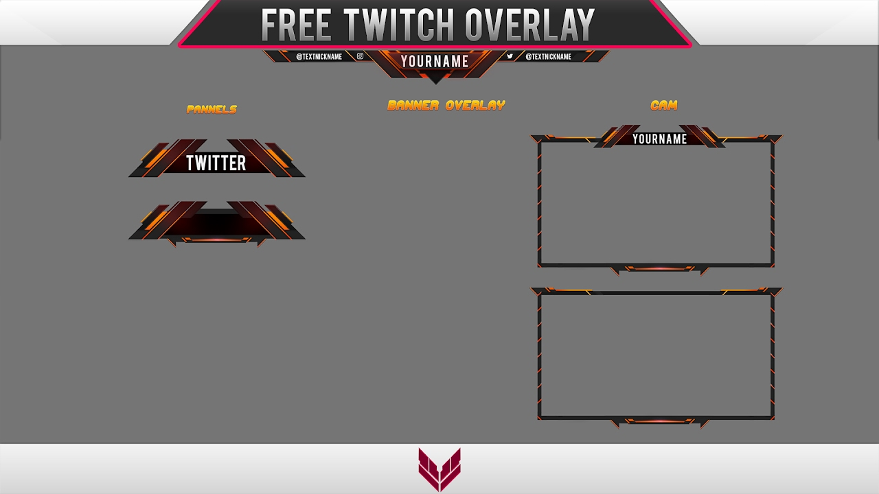 Template free twitch overlay 8 youtube for Free twitch overlay template
