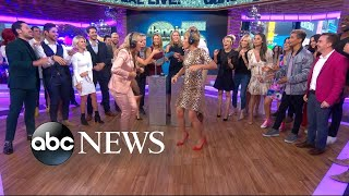 'DWTS' season 25 celebrity cast competes in a live dance-off