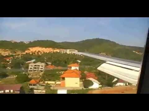 Hard Landing at Koh Samui Airport Thai Airways Boeing B737-400 [BKK-USM]
