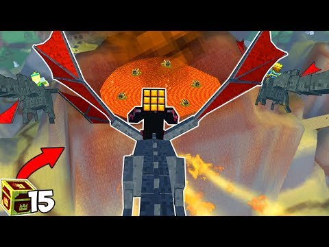 WHAT HAPPENS IF YOU RIDE A DRAGON INTO THE VOLCANO?? (Pixel Gun 3D)