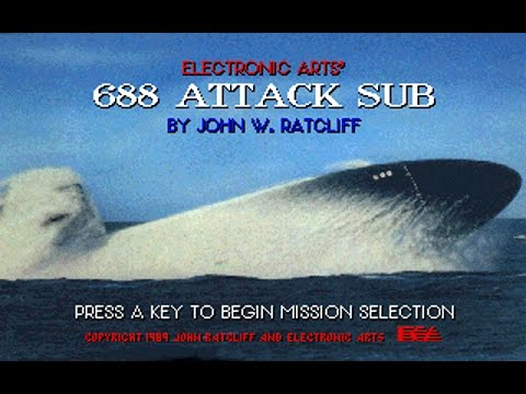 688 Attack Sub (PC/DOS) 1989, Electronic Arts